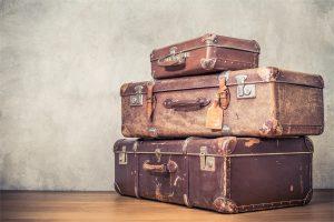 Drei alte Koffer